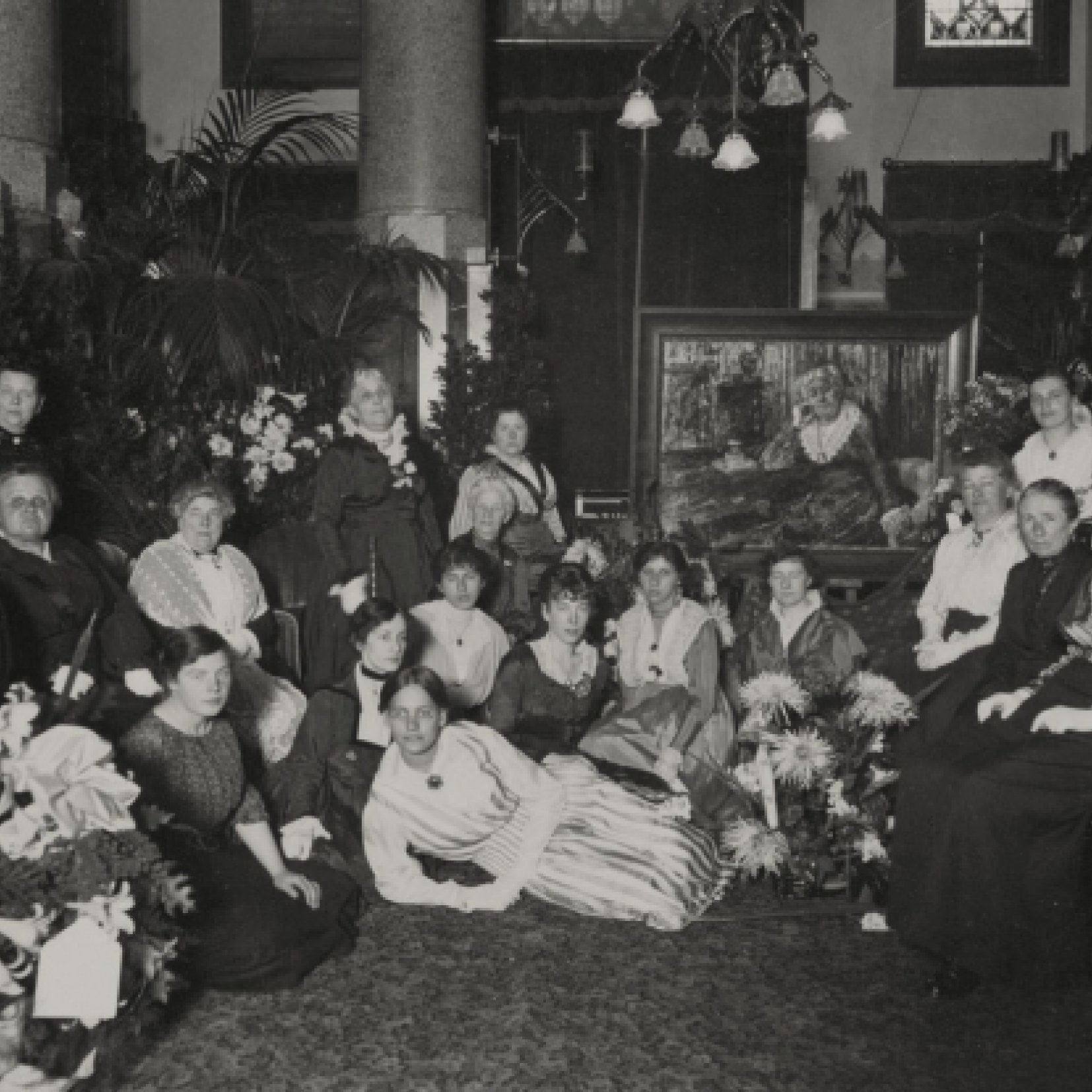 Wilhelmina Drucker recipieert, 1917